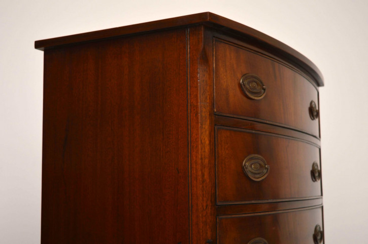 Antiker Georgian Style Mahogany Bow Front Chest of Drawers