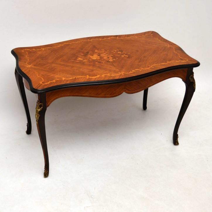Antik Französischer Stil Intarsien Rosewood Couchtisch Sofatisch