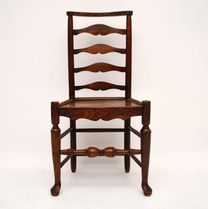 Antiker Ladderback Stuhl aus dem 18. Jahrhundert