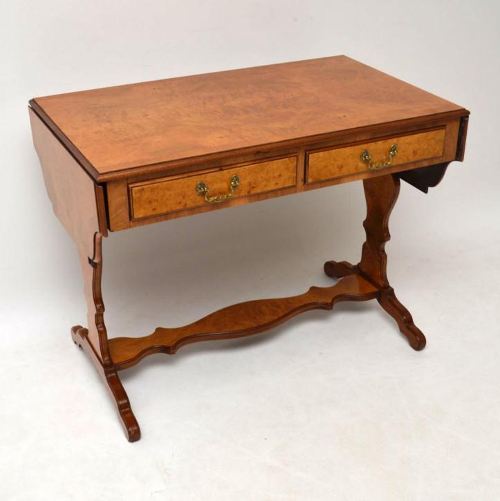 Antik Burr Walnuss Sofa Tisch