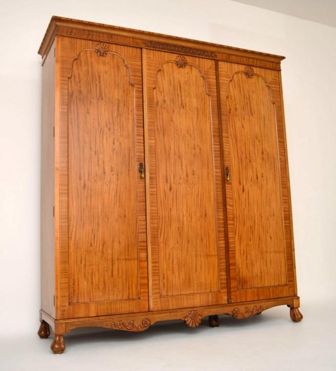 Antiker Satin Wood Wardrobe by Hille