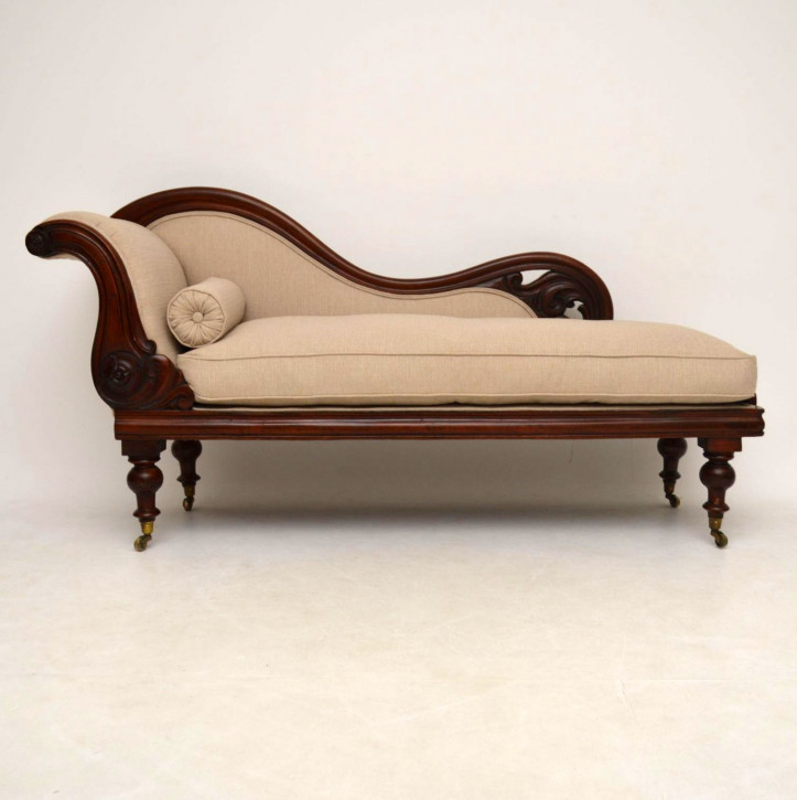 Antikes William IV Mahagoni Gepolstertes Sofa