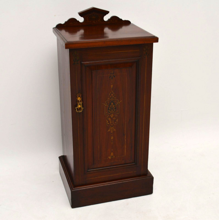 Antiker Victorian Mahogany Bedside Cabinet