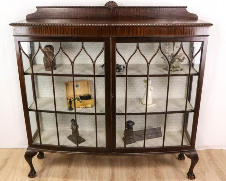 Außergewöhnlich antike Vitrine / Display Cabinet, Mahagoni, ca. 1920