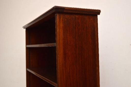 Antikes Edwardian Offenes Mahagoni Bookcase