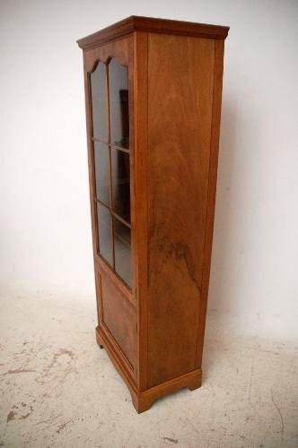 Antikes georgianisches Stil Wurzelholz Nußbaum  Bookcase