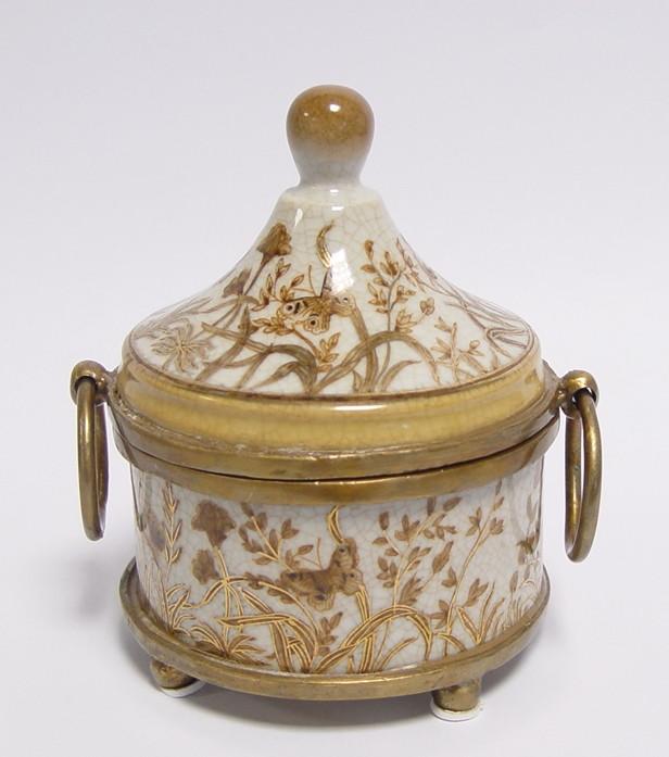 A Bronze Mounted Porcelain Box 14x11,5cm