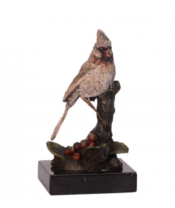 Bronzefigur Cardinal Bird 14,2x7,2x6,9cm