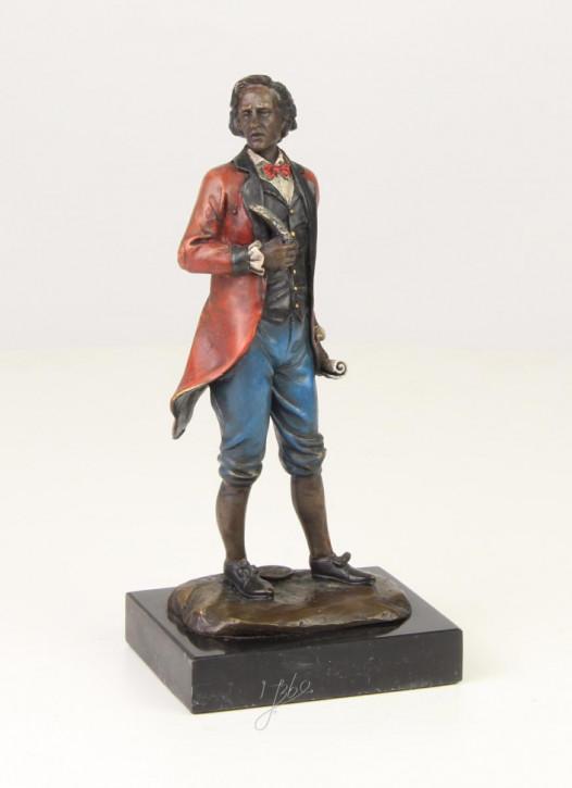 Bronzefigur Mozart 21,1x7,8x10cm