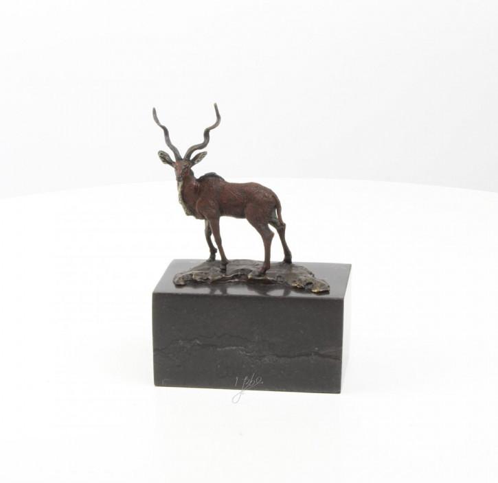 Bronzefigurn Impala 19,1x7,2x13,1cm