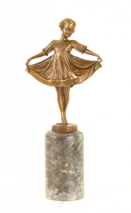 Bronzefigur Lilli 31,9x6,8x14,3cm