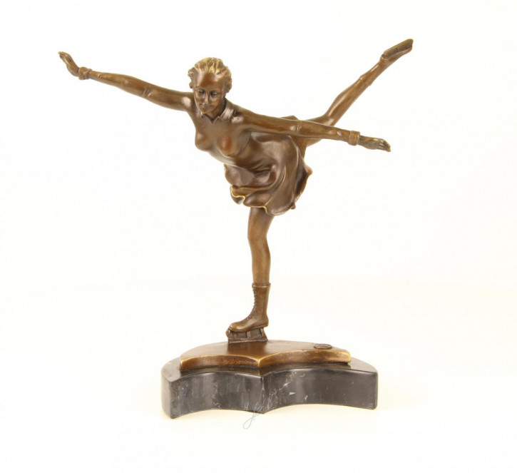 Bronzefigurn Ice Skater 30,7x14,2x28,6cm