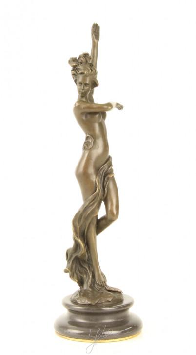 Bronzefigur Scarf Dancer (brass Plate Underneath 25,8x7,5x7,5cm