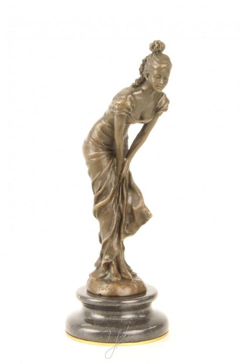 Bronzefigur Dancer (brass Plate Underneath Base) 24,8x9,9x9,9cm
