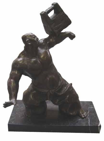 A Bronze Candlestand 23,2x12,9x13,3cm