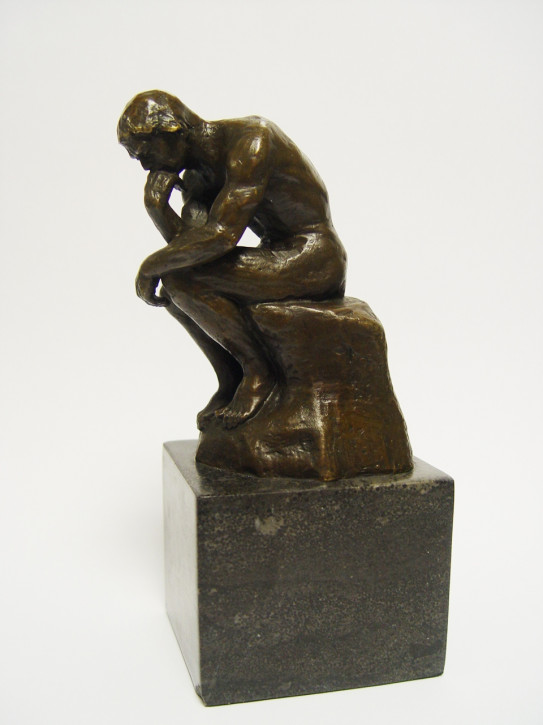 Bronzefigur The Thinker 19x7,5cm