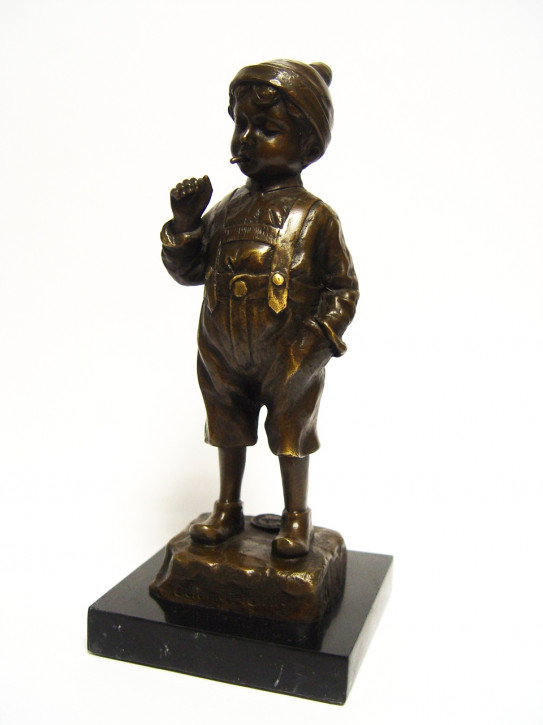Bronzefigur The Smoker 21x8,5x8,6cm