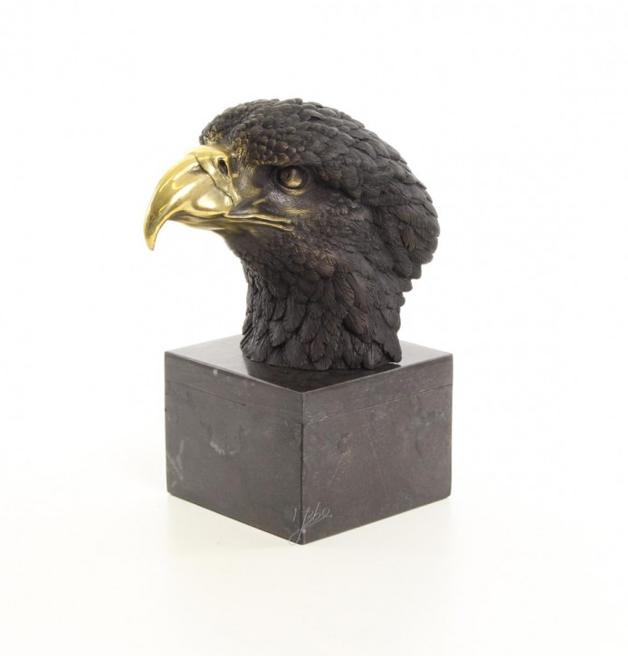 Bronzefigurn Adler Kopf 27,8x13,8x23,5cm
