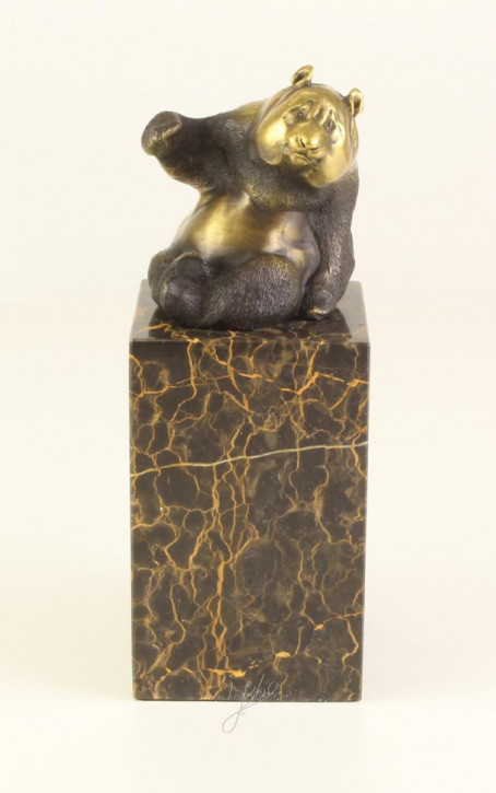 Bronzefigur Panda 21,6x7,9x8cm