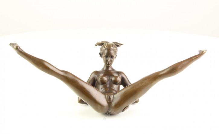 Erotische Bronzefigur Female Nude 12,2x11,4x32,3cm