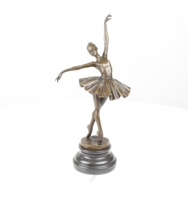 Bronzefigur Ballerina 33,7x10,6x16,7cm