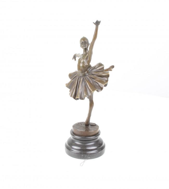 Bronzefigur Ballerina 31,7x12,2x17,8cm