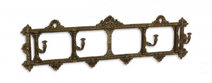 Bronzefarbenes Gusseisen Kleiderhaken 18,5x62,5cm