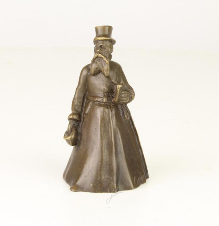 Bronzefigur Tischglocke Gentleman 9,9x5,5x5,5cm
