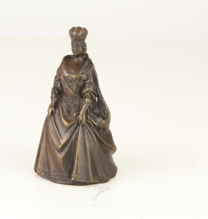 Bronzefigur Tischglocke Queen 9,4x5,2x5,9cm