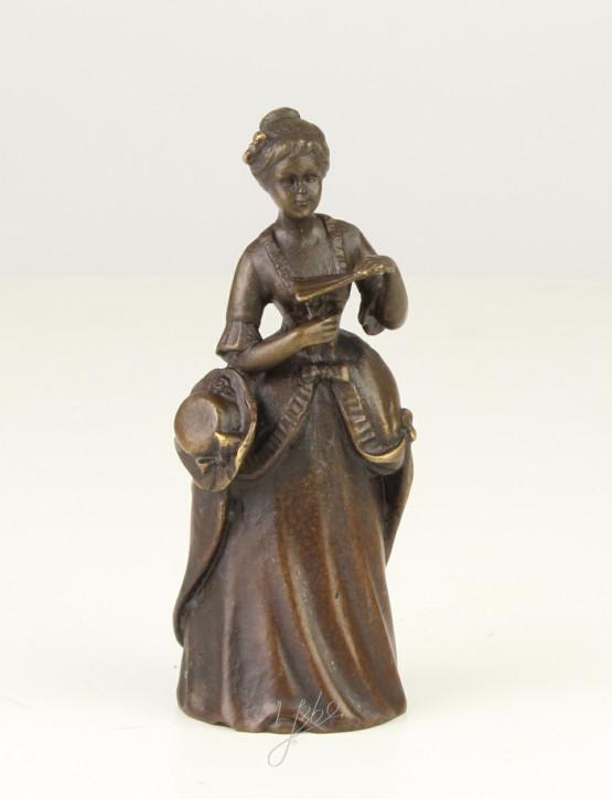 Bronzefigur Tischglocke Lady 10,6x3,9x4,1cm