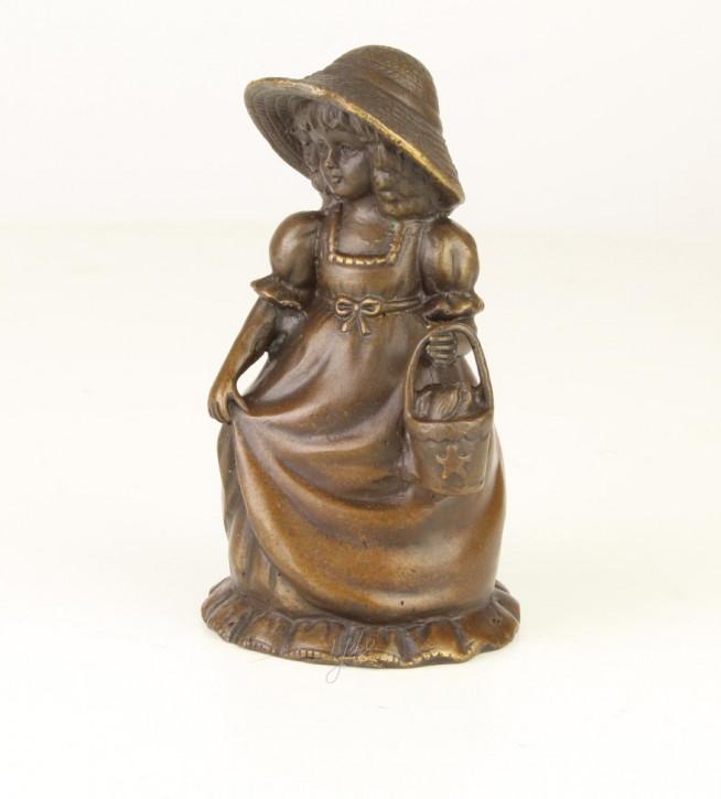 Bronzefigur Tischglocke Girl 12,4x6,5x7,1cm
