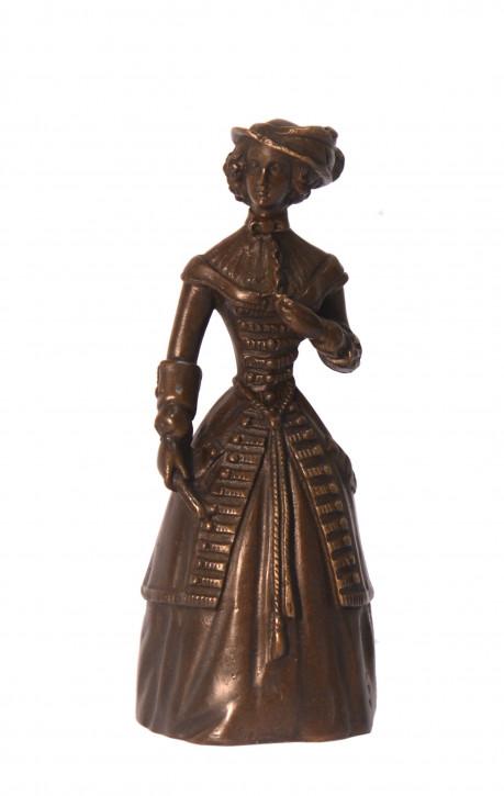 Bronzefigur Tischglocke 13,8x5,5cm