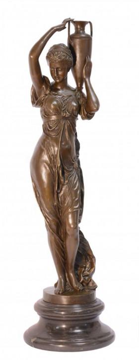 Bronzefigur Hebe With Urn 74,5x21,5x21,5cm