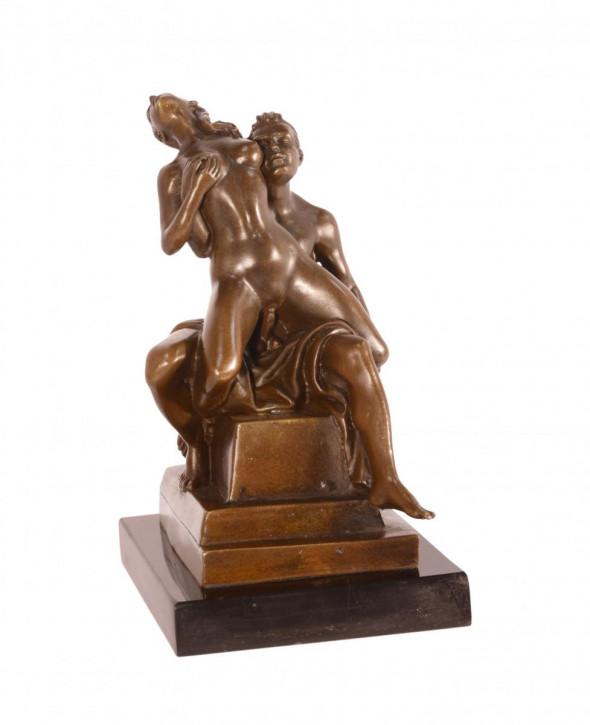 Erotische Bronzefigur Sculpture 17,5x9,6x12,6cm