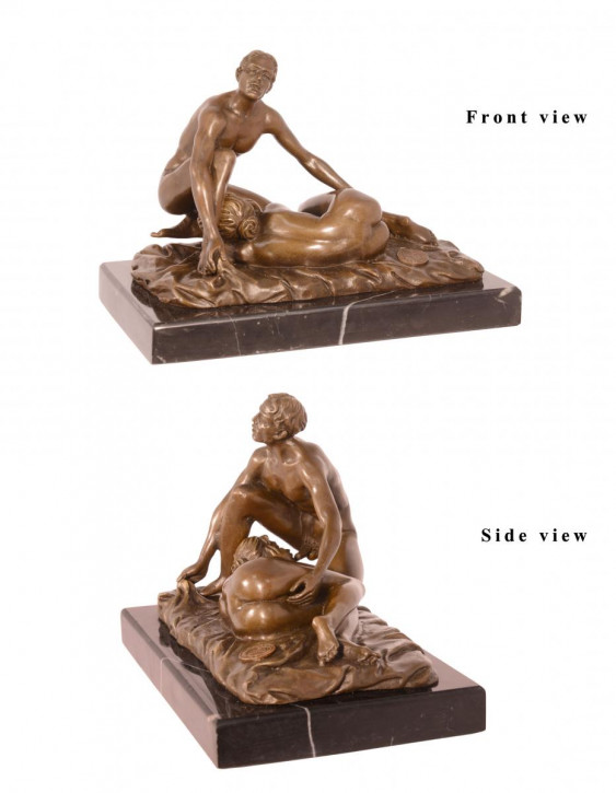 Erotische Bronzefigur Sculpture 12,7x11x17,9cm