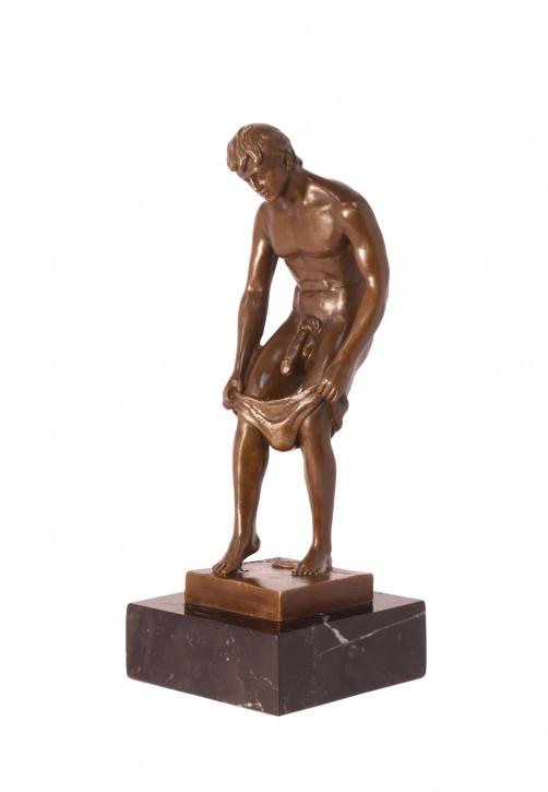 Bronzefigur Male Nude 23,7x8,7x9,6cm