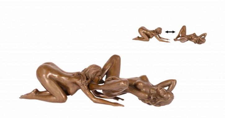 Erotische Bronzefigur 5,5x10,4x22,5cm