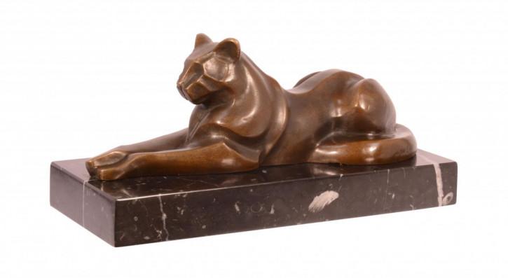 Bronzefigur Reclining Cat 12,1x11,5x25,5cm