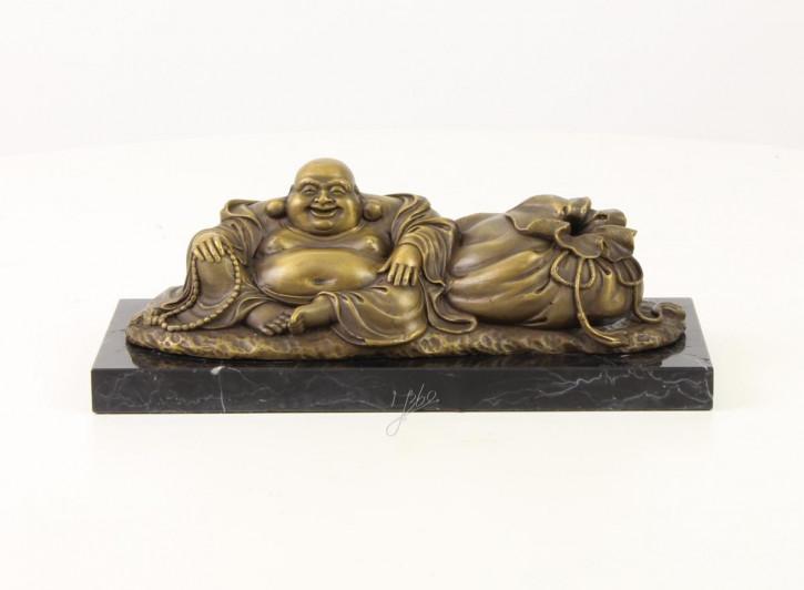Bronzefigur Hotei The Laughing Buddha 10x11,1x27,4cm