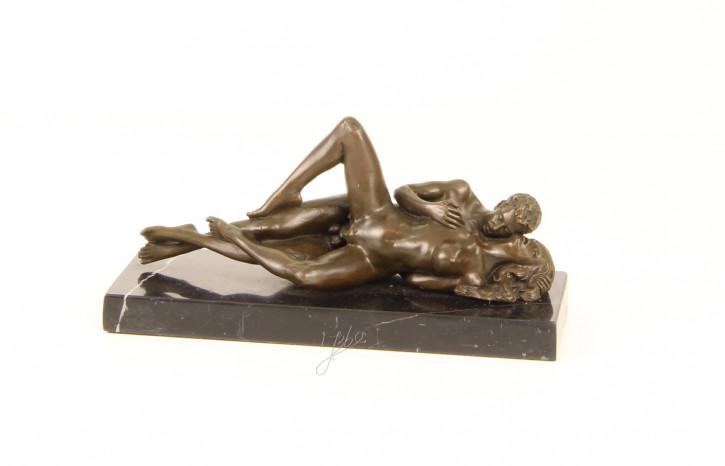 Erotische Bronzefigur Sculpture 10,2x9x21,5cm