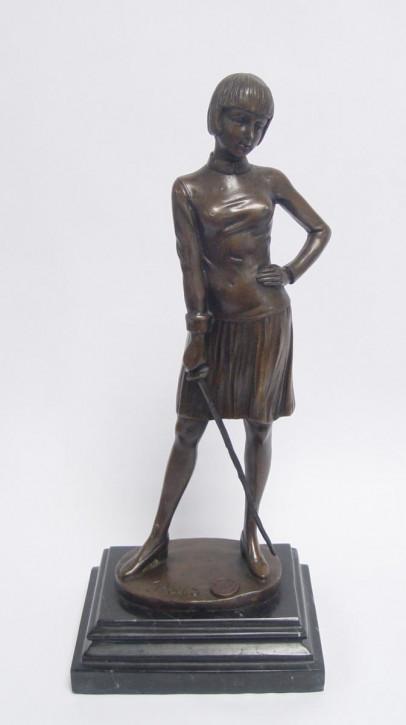 Bronzefigur Lady Fencer 31,5 cm.x13 cm.cm