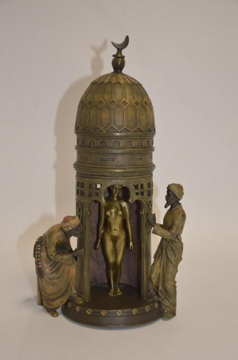 Erotische Bronzefigur Group