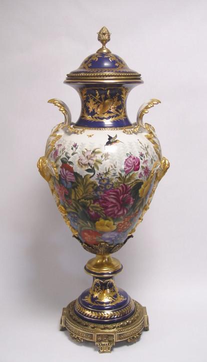 Porzellan Bronze Mounted Vase und Cover 93cm