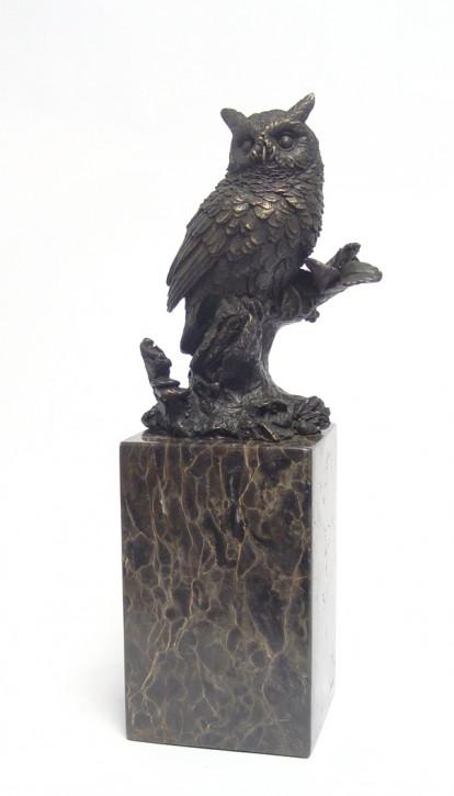 Bronzefigur Long-eared Eule 27,2x8,2x9,6cm
