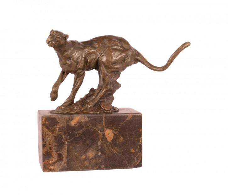 Bronzefigur Running Cougar 18x10,4x20cm