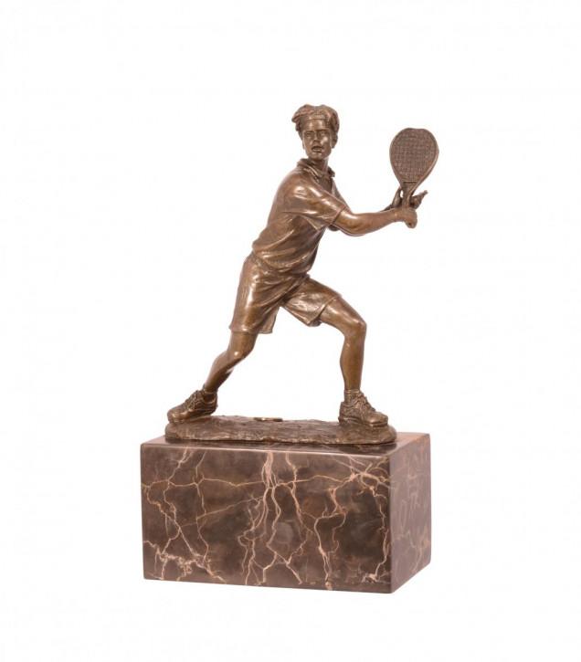 Bronzefigur Tennis-player 23,8x7,1x13,8cm