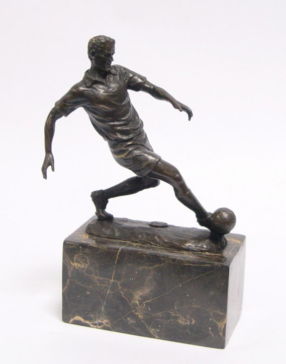 Bronzefigur Soccer Player 23,4x7x15,1cm