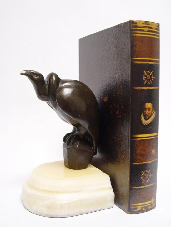 A Bronze Vulture Buchstütze 20x12,7x13cm