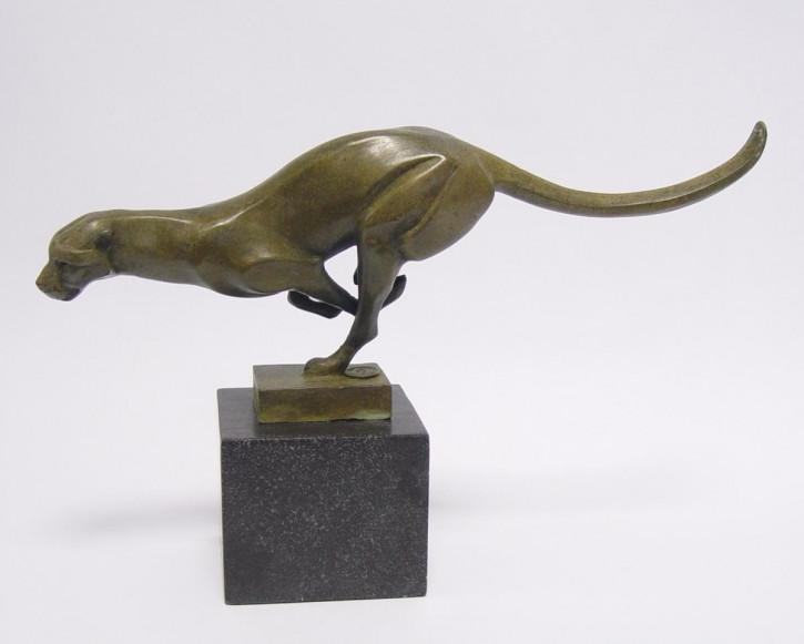 Bronzefigur Running Cougar 18,3x7,7x30,1cm