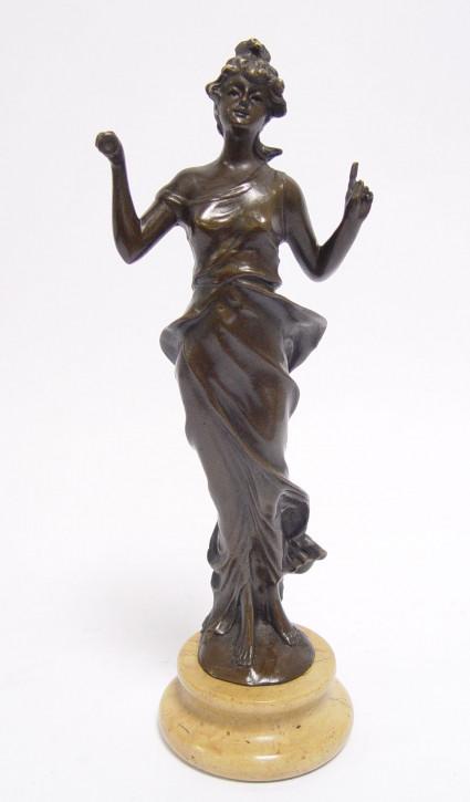 Bronzefigur Lady 25,1x7,1x8,9cm